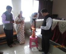 Inauguration Of Workshop By Shri Navnath Bomble(Co-Ordinator Of Bahai Academy,Pachgani)